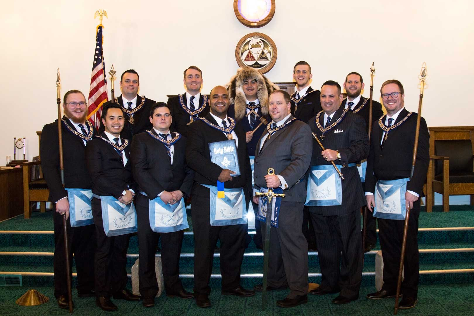 Provo Story Masonic Lodge Officers 2018